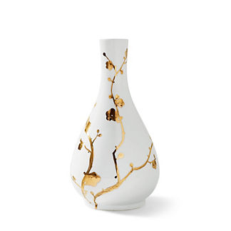 Gilded Blossoms Single Gourd Vase