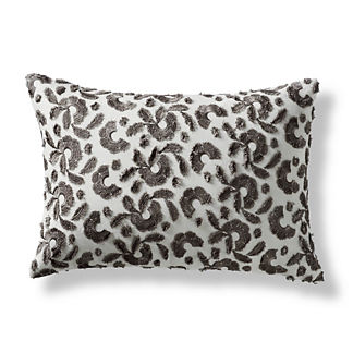 Ovidia Floral Embellished Decorative Lumbar Pillow