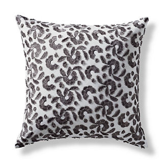 Ovidia Floral Embellished Decorative Square Pillow