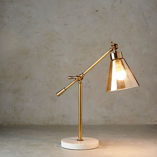 Tory Amber Glass Task Lamp