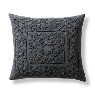 Nora Embroidered Trellis Decorative Pillow