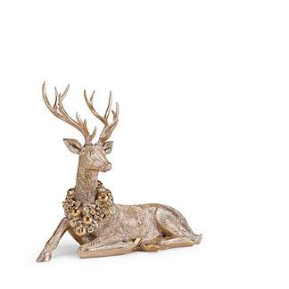 Wreathed Sitting Reindeer