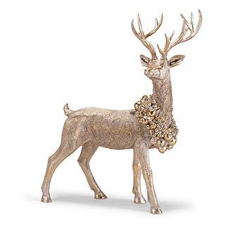 Wreathed Standing Reindeer