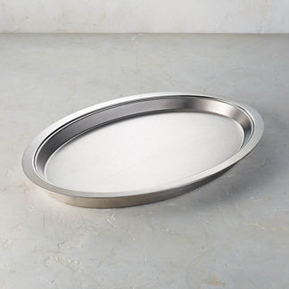 Hot/Cold Stainless Steel Oval Platter