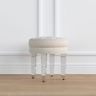 Adley Vanity Stool with Acrylic Legs, Special Order