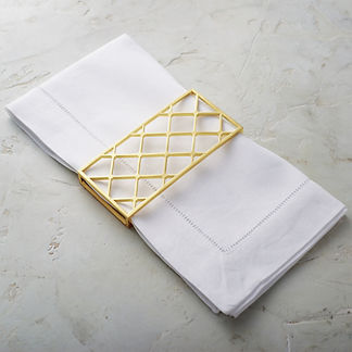 Trellis Napkin Wraps, Set of Four