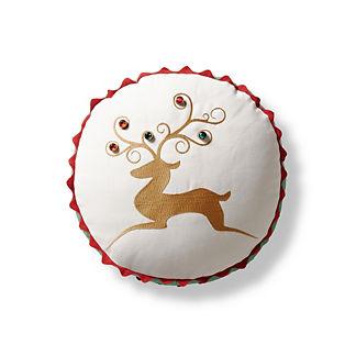 Reindeer Crossing Indoor/Outdoor Pillow
