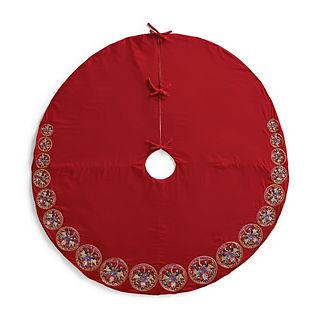 Multi-Circle Jeweled Velvet Tree Skirt