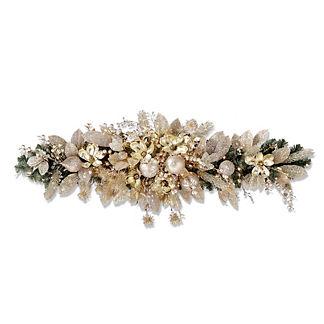 Gilded Elegance Cordless 5' Mantel Swag