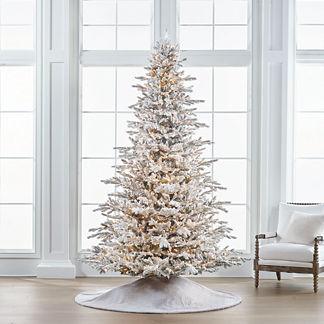 Flocked Stafford Pine 9' Full Profile Tree