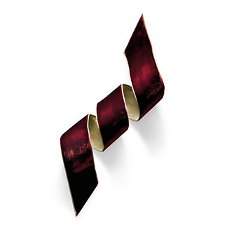 Ruby Velvet Ribbon with Gold Rope Trim