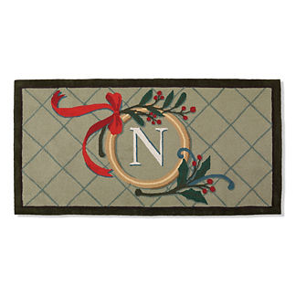 Nordic Frost Monogrammed Entry Mat