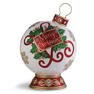Fiber Optic LED Merry Christmas Ornament