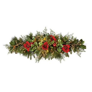 Christmas Tidings 5' Mantel Swag