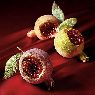 Verona Pomegranate Ornaments, Set of Six