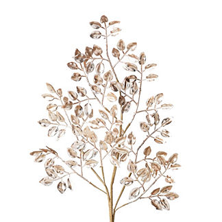 Metallic Mini Leaf Stems, Set of 12