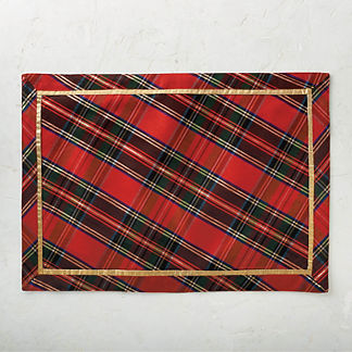 Holiday Plaid Placemats, Set of Four