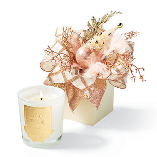 Lux Creme Brulee Scented Holiday Candle in Gift Box