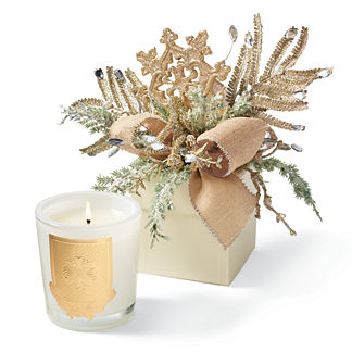 Lux White Christmas Scented Holiday Candle in Gift Box