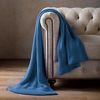 Cotton Rib Knit Throw