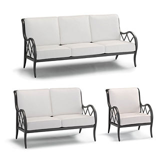 Brentwood 3-pc. Sofa Set in Carbon Finish