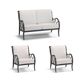 Brentwood 3-pc. Loveseat Set in Carbon Finish