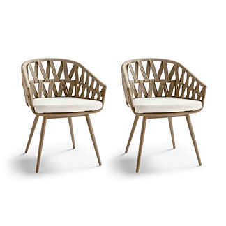 Landry Dining Stacking Chairs with Cushions, Set of Two