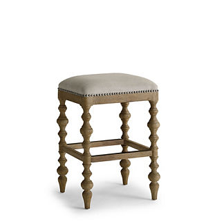 Campbell Carved Backless Bar Stool (30