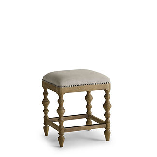 Campbell Carved Backless Counter Height Bar Stool (24