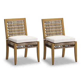 Laguna Dining Side Chairs with Cushions, Set of Two