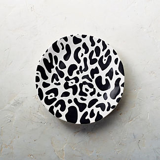 Cheetah Print Salad Plates, Set of Four