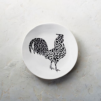 Rooster Salad Plates, Set of Four