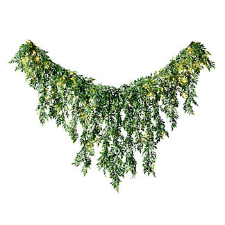 Bay Willow Leaf Hanging Garland