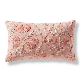 Nora Floral Lumbar Decorative Pillow Cover