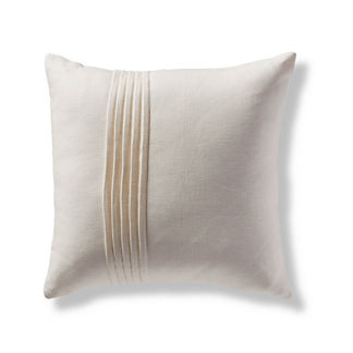 Pin Tuck Linen Square Decorative Pillow Cover