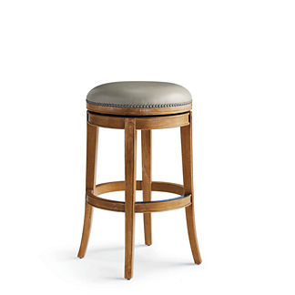 Henning Backless Swivel Bar Height Bar Stool (30