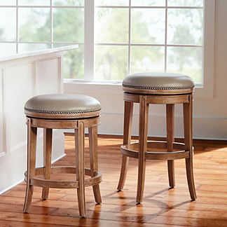 Henning Backless Swivel Bar & Counter Stool