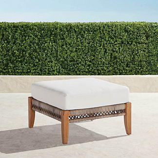 Laguna Ottoman with Cushion, Special Order