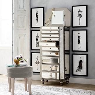 Loren Jewelry Cabinet