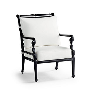 Small Carlisle Lounge Chair with Cushions in Onyx Finish