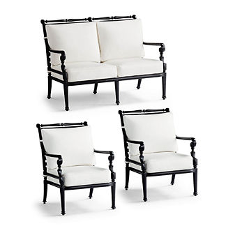 Small Carlisle 3-pc. Loveseat Set in Onyx Finish