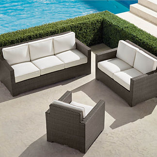 Small Palermo 3-pc. Sofa Set in Bronze Finish