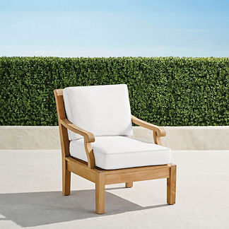 Small Cassara Lounge Chair with Cushions in Natural Finish
