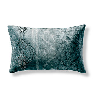 Beaded Floral Volute Decorative Pillow