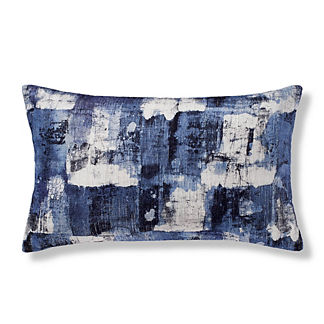 Blocked Watercolor Lumbar Decorative Pillow