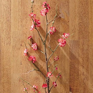 Faux Plum Blossoms Stems, Set of Four