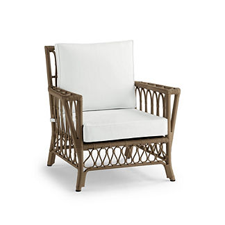 Myla Lounge Chair with Cushions in Umber Finish