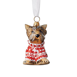 Yorkshire Terrier in Nordic Sweater Collectible Dog Ornament