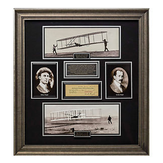 Millionaire Gallery Orville Wright Signed Check Collage