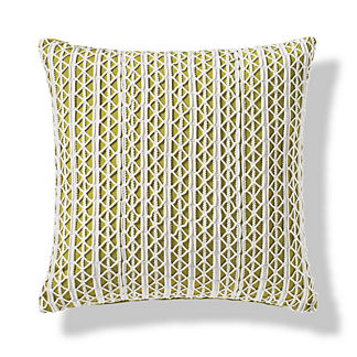 Lace Overlay Indoor/Outdoor Pillow
